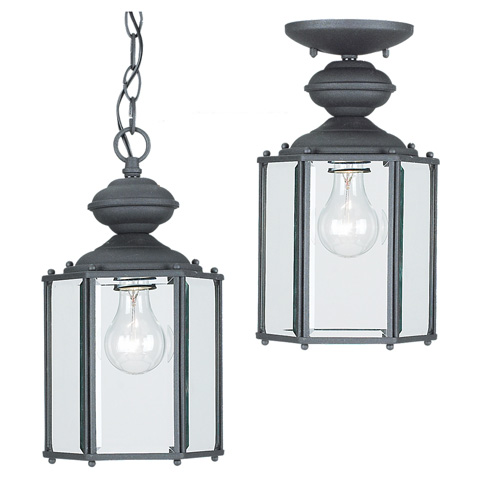 Sea Gull Lighting - One Light Outdoor Semi-Flush Convertible Pendant - 6008-12