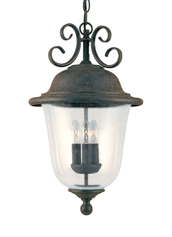 Sea Gull Lighting - Three Light Outdoor Pendant - 6059-46