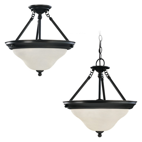 Sea Gull Lighting - Three Light Semi-Flush Convertible Pendant - 66062-782