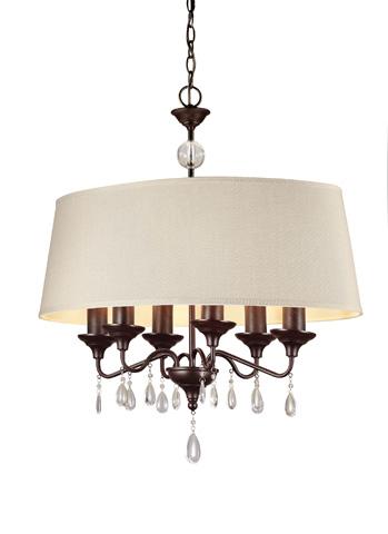 Sea Gull Lighting - Six Light Island Pendant - 6610506BLE-710
