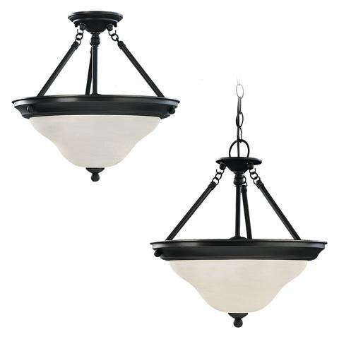Sea Gull Lighting - Three Light Semi-Flush Convertible Pendant - 69562BLE-782