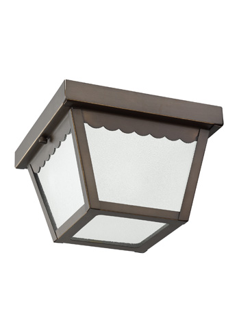 Sea Gull Lighting - One Light Outdoor Ceiling Flush Mount - 75467-71