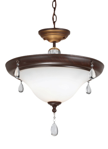 Sea Gull Lighting - Two Light Semi-Flush Convertible Pendant - 7710502BLE-710