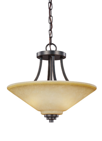Sea Gull Lighting - Two Light Semi-Flush Convertible Pendant - 7713002BLE-845