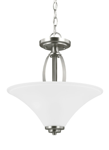 Sea Gull Lighting - Two Light Semi-Flush Convertible Pendant - 7713202BLE-962