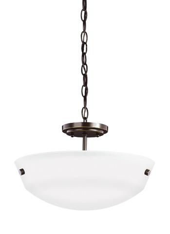 Sea Gull Lighting - Two Light Semi-Flush Convertible Pendant - 7715202BLE-782