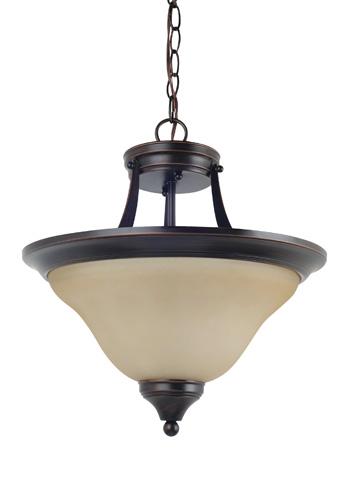 Sea Gull Lighting - Two Light Semi-Flush Convertible Pendant - 77174-710