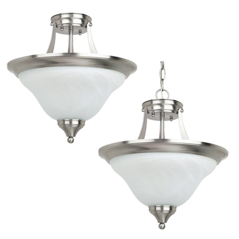 Sea Gull Lighting - Two Light Semi-Flush Convertible Pendant - 77174BLE-962