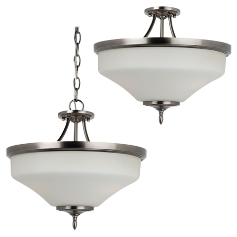 Image of Three Light Ceiling Semi-Flush Convertible Pendant