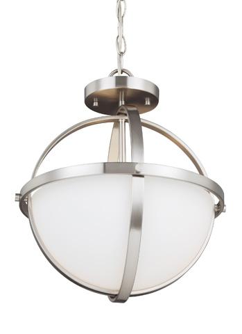 Sea Gull Lighting - Two Light Semi-Flush Convertible Pendant - 7724602BLE-962