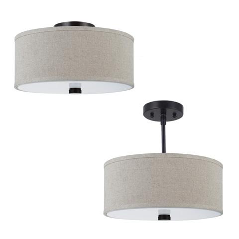 Sea Gull Lighting - Two Light Flush / Semi-Flush Convertible - 77262-710