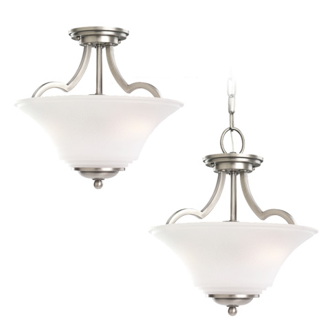 Sea Gull Lighting - Two Light Semi-Flush Convertible Pendant - 77375-965