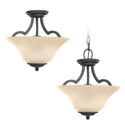 Sea Gull Lighting - Two Light Semi-Flush Convertible Pendant - 77375BLE-839
