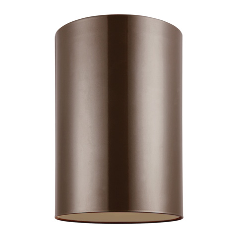 Sea Gull Lighting - Large One Light Outdoor Ceiling Flush Mount - 7813901-10