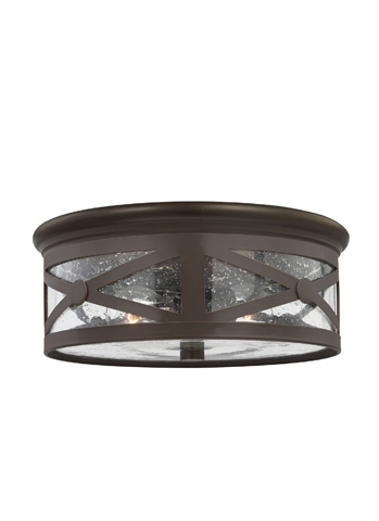Image of Two Light Outdoor Ceiling Flush Mount