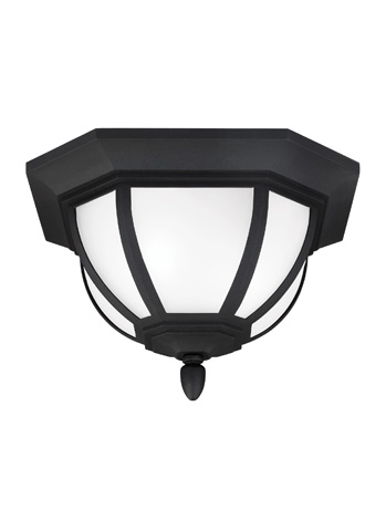 Sea Gull Lighting - Two Light Outdoor Ceiling Flush Mount - 7836302-12