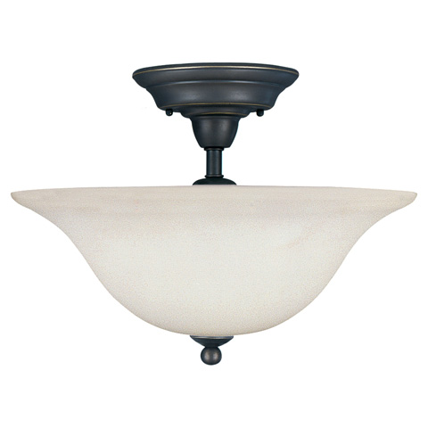 Sea Gull Lighting - Three Light Semi-Flush Mount - 79661BLE-782