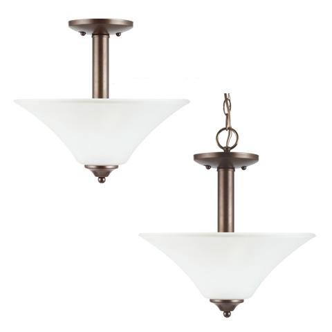 Sea Gull Lighting - Two Light Semi-Flush Convertible Pendant - 79806BLE-827