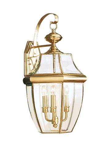 Sea Gull Lighting - Three Light Outdoor Wall Lantern - 8040-02