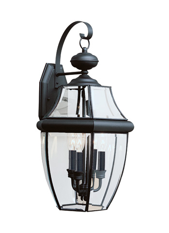 Sea Gull Lighting - Three Light Outdoor Wall Lantern - 8040-12