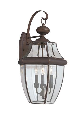 Sea Gull Lighting - Three Light Outdoor Wall Lantern - 8040-71