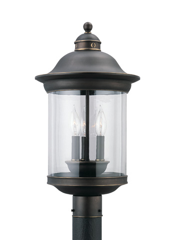 Sea Gull Lighting - Three Light Outdoor Post Lantern - 82081-71