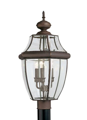 Sea Gull Lighting - Three Light Outdoor Post Lantern - 8239-71