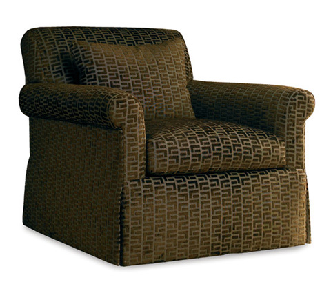 Sherrill Furniture Company - Brown Upholstered Arm Chair - DC46