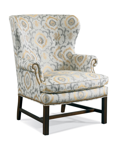 Sherrill Furniture Company - Upholstered Wing Chair with Wood Base - 1510-1