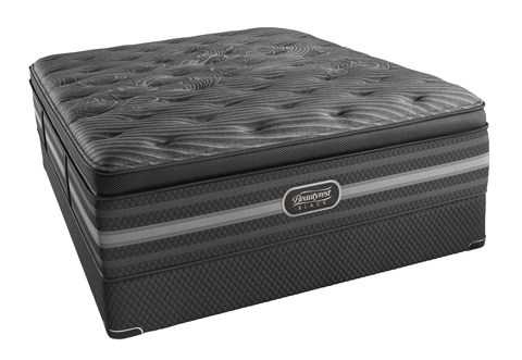 Image of Beautyrest Black Natasha Plush Mattress Set