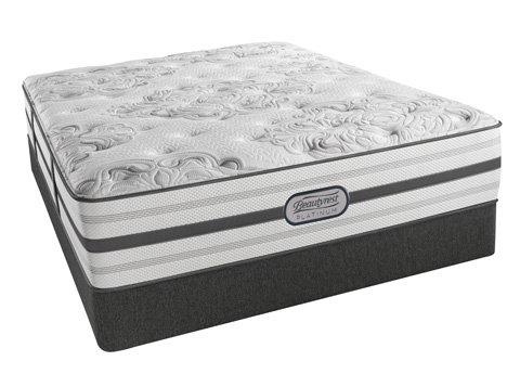 Image of Beautyrest Platinum Brittany Lux Firm Mattress Set