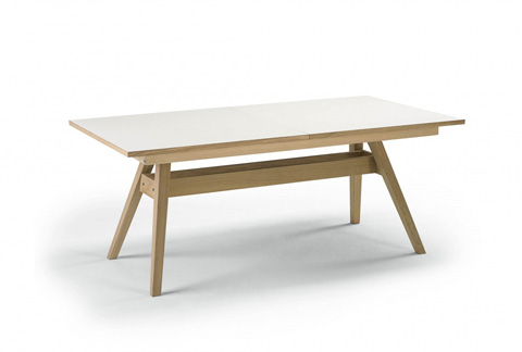 Image of Trestle Dining Table with Flared Legs
