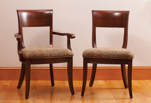 Saloom Furniture - Arm Chair and Side Chair - 37AU/37SU