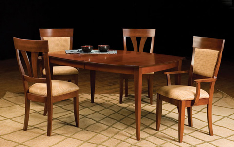 Saloom Furniture - Dining Room Set - MSWB 4260-1/58SU/58AU