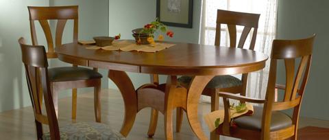 Saloom Furniture - Dining Room Set - MSWB 4848/39AU/39SU
