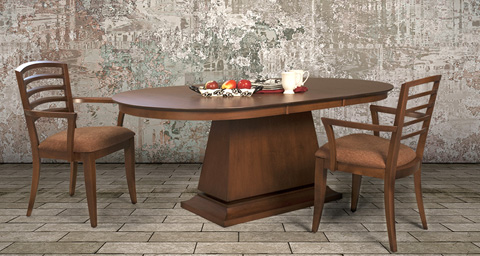 Saloom Furniture - Capital Dining Table - MSWO 4260-1