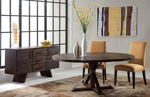 Saloom Furniture - Cambridge Pedestal Dining Table - OAWO 5454-1 CAM