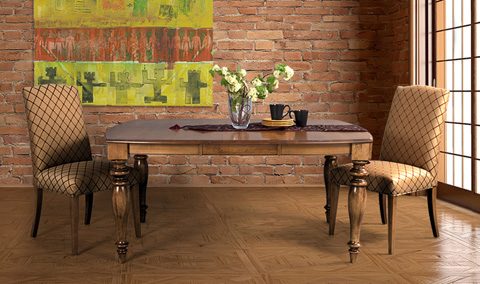 Saloom Furniture - Windham Dining Set - MTWB 4848-1/61SU