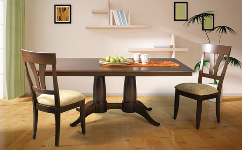 Chelsea Double Pedestal Dining Table Mtws 4272 Saloom