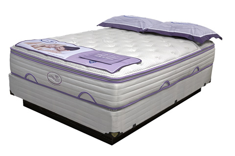 Image of Pleasant Euro Pillow Top Mattress Set