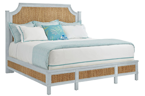 Stanley - Coastal Living - Woven Queen Bed in Sea Salt - 062-H3-41