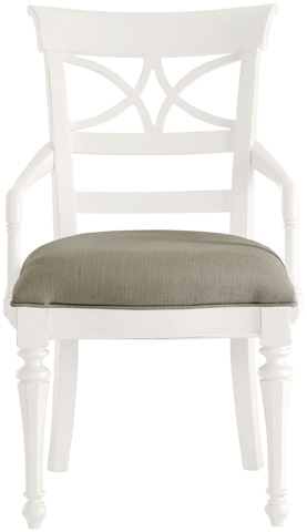 Image of Sea Watch Arm Chair in Saltbox White