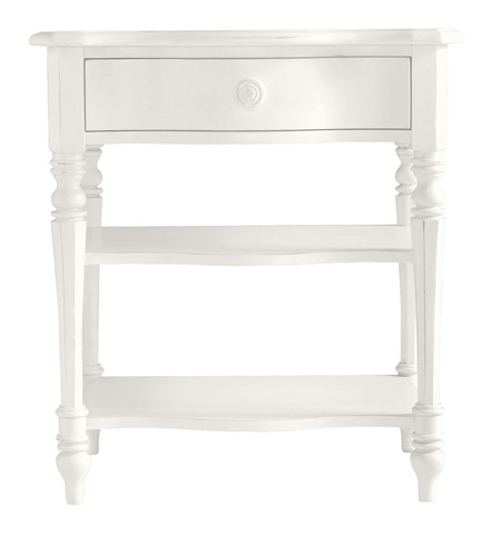 Image of Bedside Table in Saltbox White