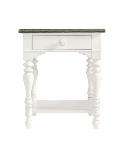 Image of Lamp Table in Saltbox White