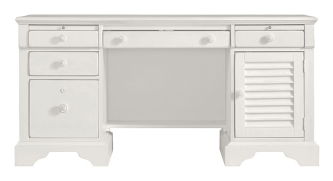 Image of Computer File Desk in Saltbox White