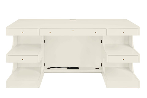 Image of Cape Dutch Writing Desk in Saltbox White
