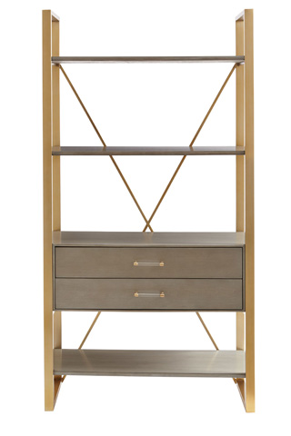 Image of Harwell Bookcase in Grey Birch
