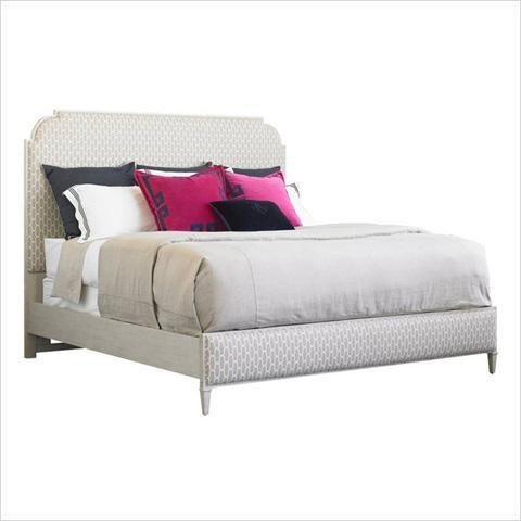 Image of Peninsula Braided Trellis Upholstered Bed