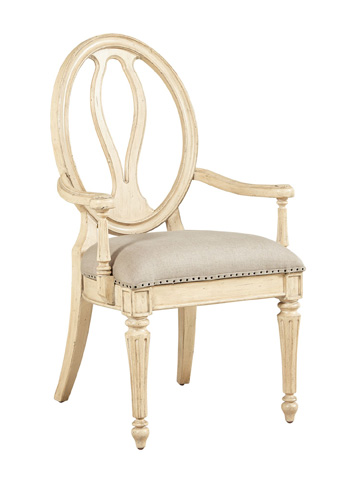 Image of Arm Chair in Vintage White