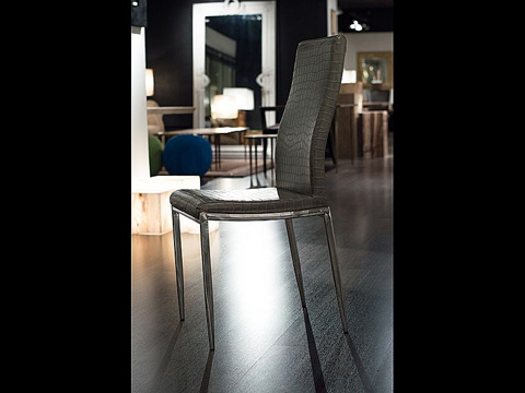 Image of Dining Chair with Stainless Steel Legs